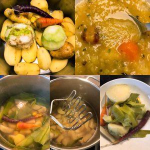 Arbeitsschritte Kartoffelsuppe
